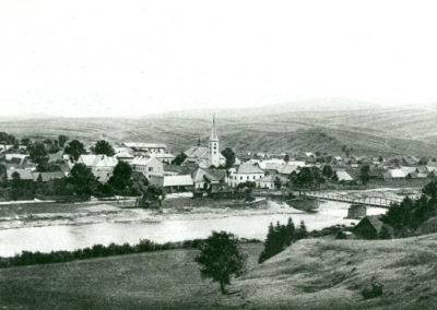Pohľad na Tvrdošín z medveckej strany z obdobia rokov 1905-1906.