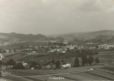 Pohľad na Tvrdošín v 20- tych rokov minulého storočia.